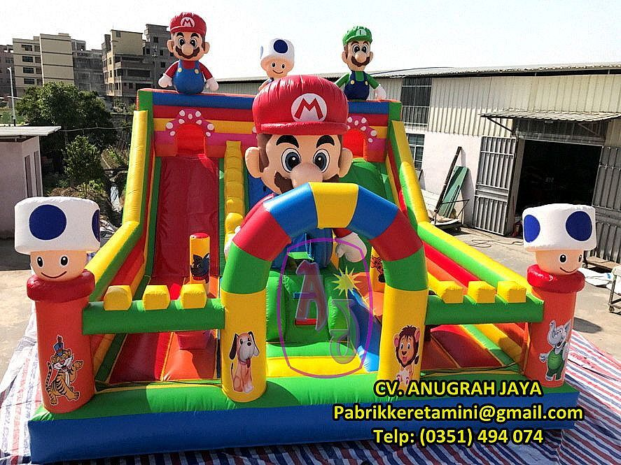 Istana Balon Mario Cartoon 6x8m